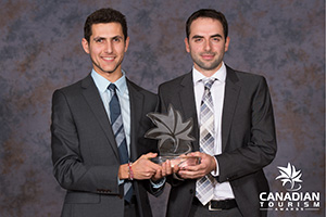 Boris Issaev and Alex Berlyand at 2014 Canadian Tourism Awards